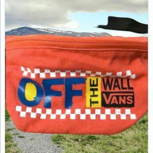 👩CUTE VANS OF THE WALK WAIST FUNNY PACK POPPY RED